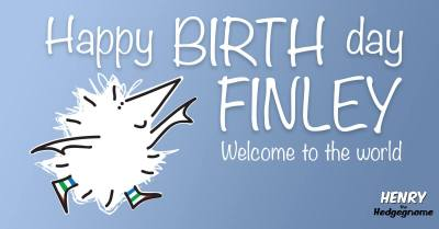Children's books | Henry the Hedgegnome | Happy birth day Finley