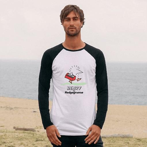 Henry the Hedgegnome - T shirt - Baseball