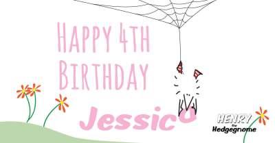 Children's books   Henry the Hedgegnome   Jessica 4th birthday