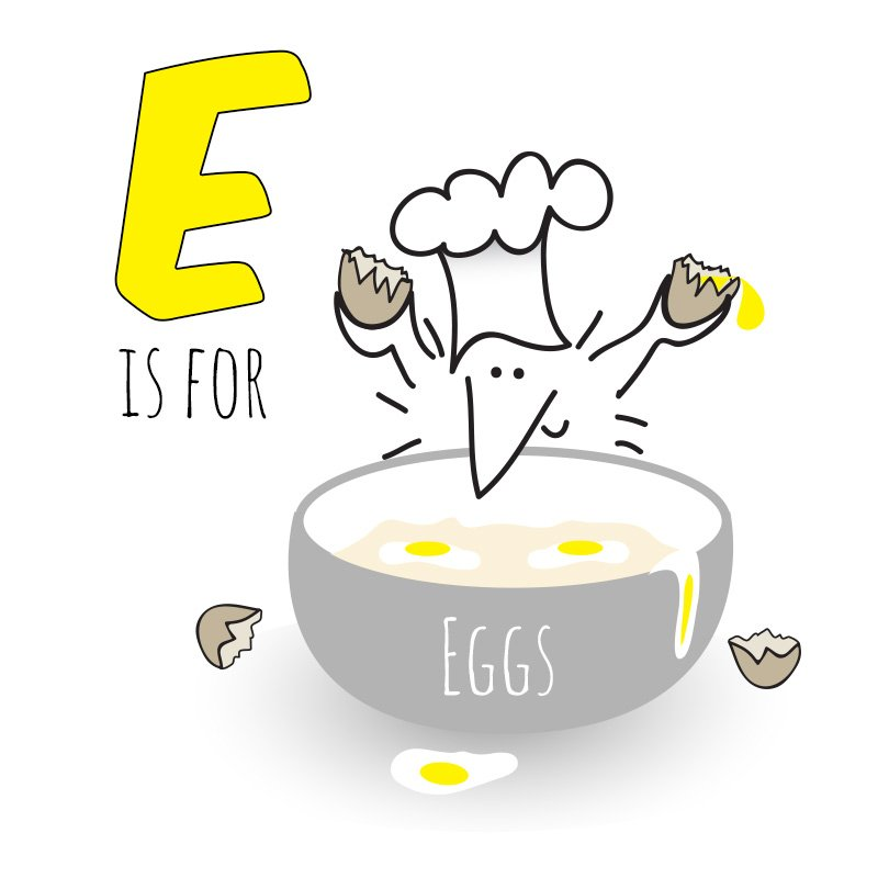 E is for eggs
