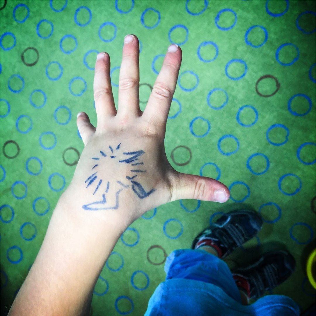 Henry drawn on hand IMG_0560