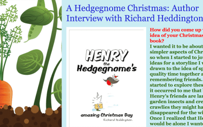 A Hedgegnome Christmas: Author Interview with Richard Heddington