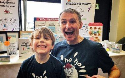 Plymouth children's author meets fans at the Mount Batten Christmas Fair.