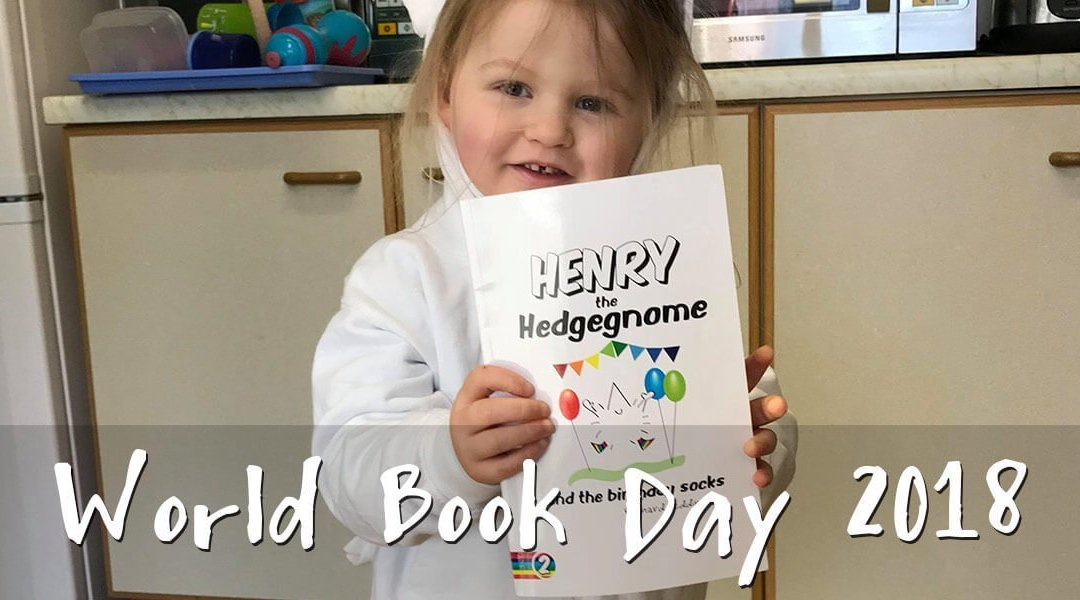 World Book Day 2018 – Henry the Hedgegnome heads to pre-school.