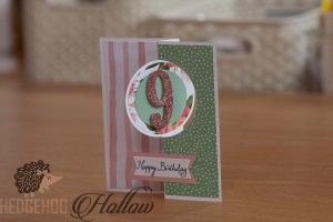 circle birthday card
