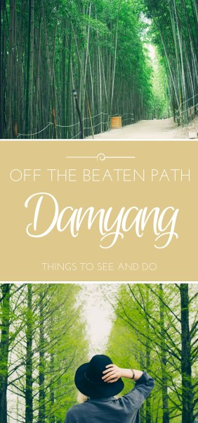 Off the beaten path - Damyang // Guide