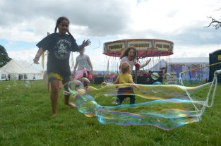 Bubble chasing at Green Gathering