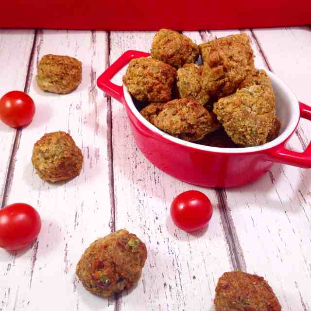 Peanut butter clean eating baked falafels #vegan #cleaneating #healthy