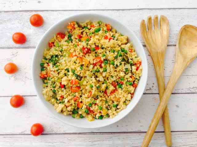 Egg Fried Cauliflower Rice Recipe Low Carb Low Fat And Very