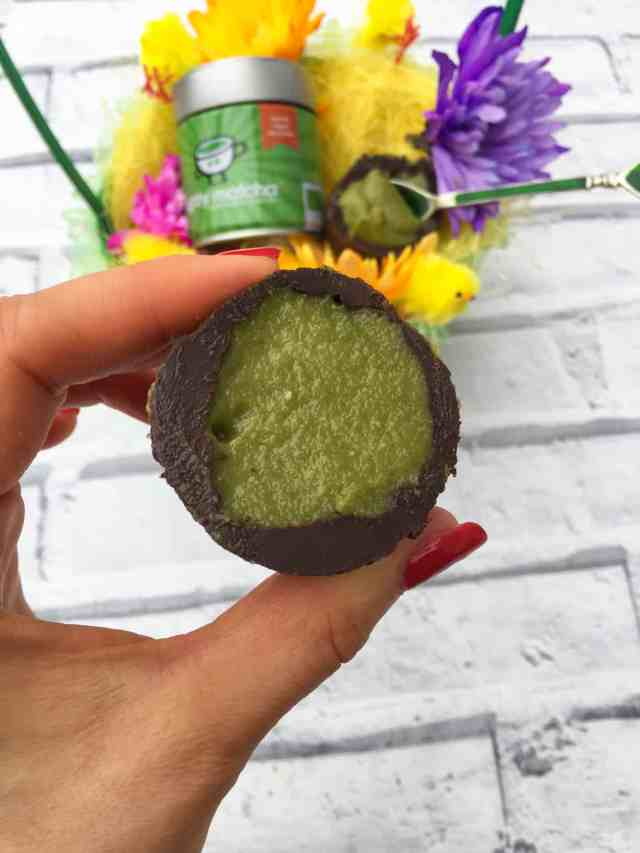 Clean eating chocolate Easter eggs with Mighty Matcha Recipe 6
