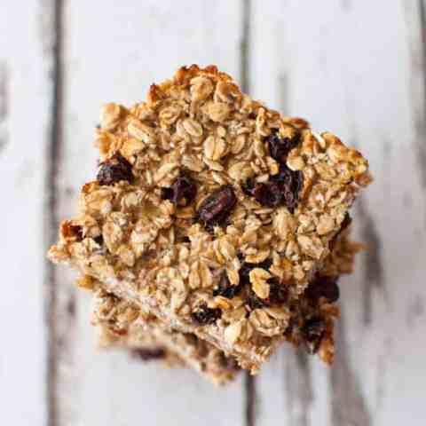 Healthy breakfast bar recipe