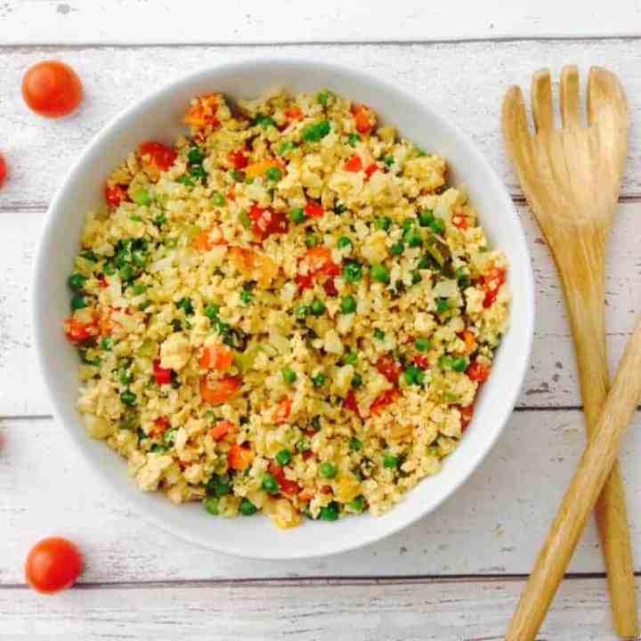 Egg fried cauliflower rice recipe