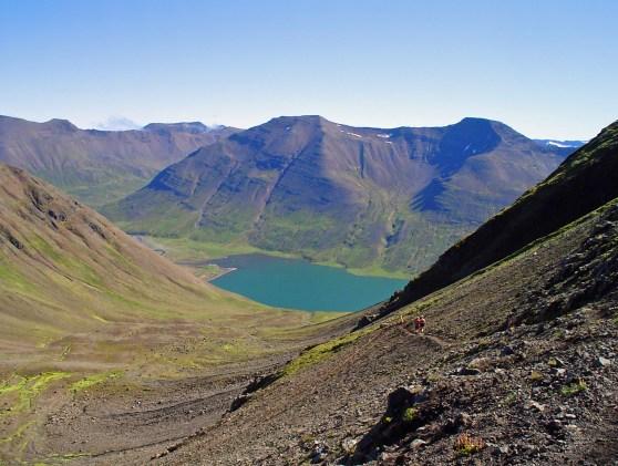 Séð niður í Héðinsfjörð