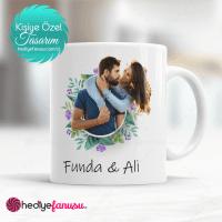Sevgililer günü hediyesi özel resimli kupa