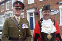 Colonel Wilkinson and Mayor Councillor Jim Lindop