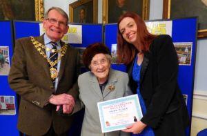 Doreen Barker and Steph Ashton with the Mayor