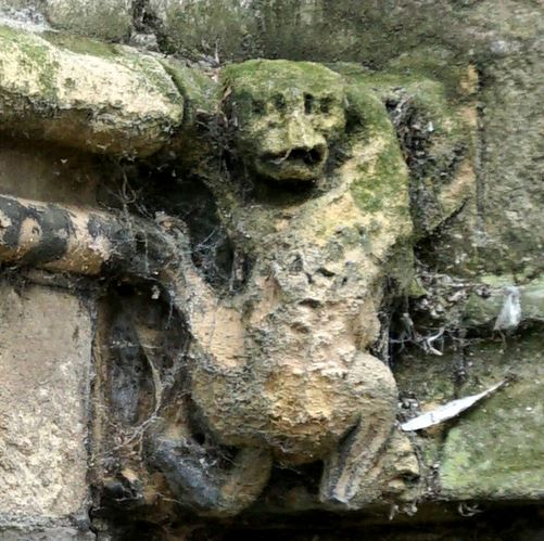 Dragon crawls the wall of St Augustine's Church.