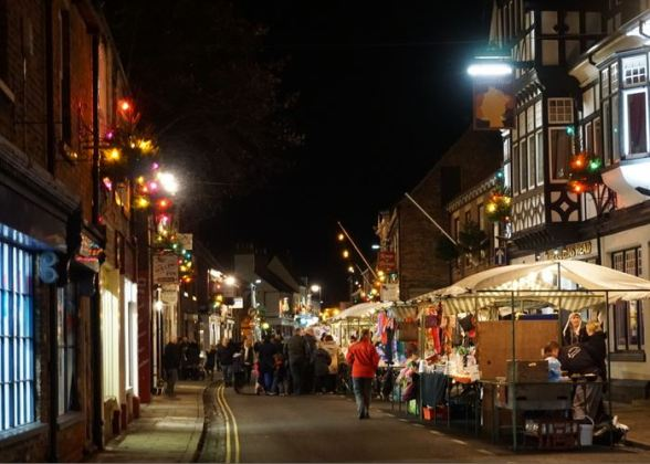 The Christmas Street scene in Hedon