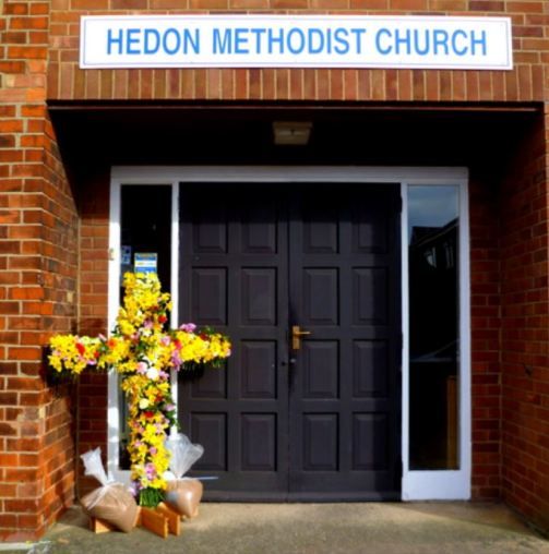 Easter Sunday cross at Methodist Church
