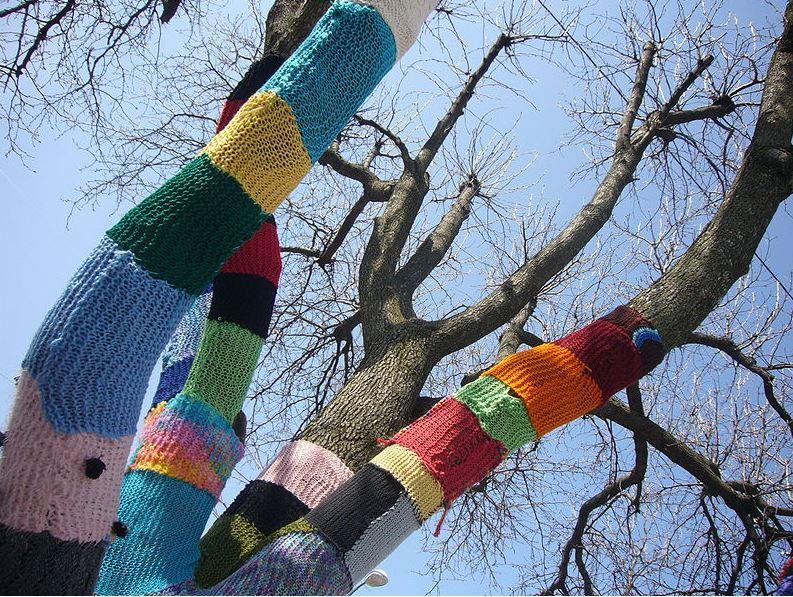 Yarn-fested tree