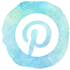 watercolor styled pinterest icon