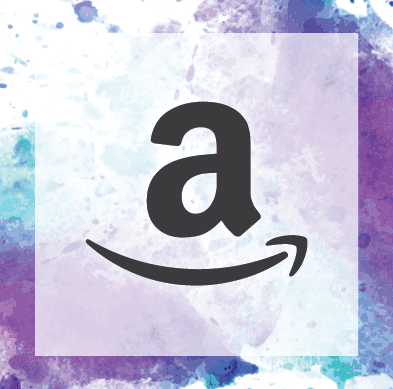 Watercolor background with Amazon Icon. Help support our work by shopping via our Amazon shop.