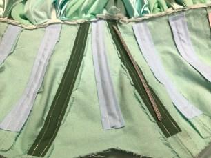 Sea Green Mermaid Dress Tutorial process 14