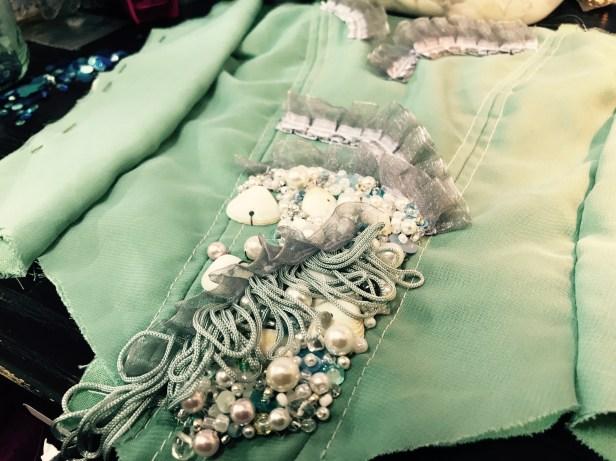 Sea Green Mermaid Dress Tutorial process 6