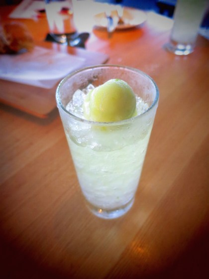 A Day In Venice (Ketle One Citroen, limoncello, tonic and lime sorbet)