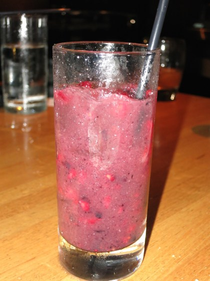 Kentucky Berry Bowl (Makers Mark whiskey, lemon juice, mashed berries)