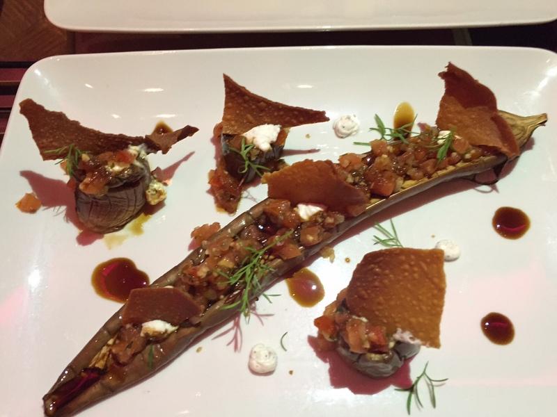 DB Bistro Moderne honey baked eggplant