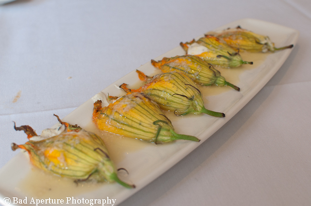 squash blossoms, goat cheese