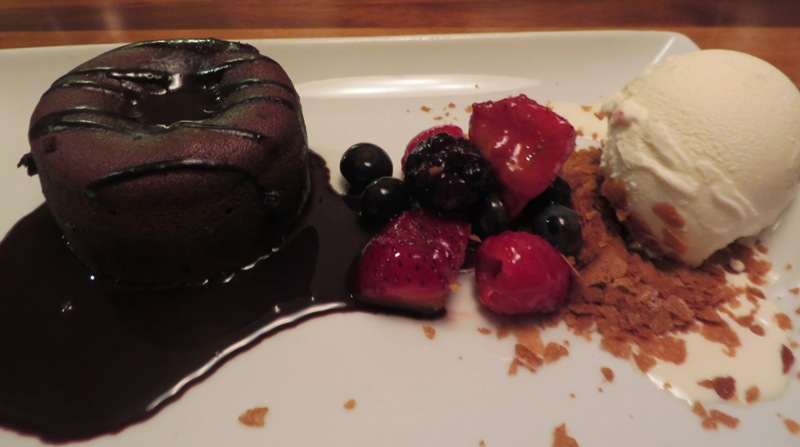 McCoy's Oceanfront Chocolate Lava Cake with HIGH ROAD Ice Cream