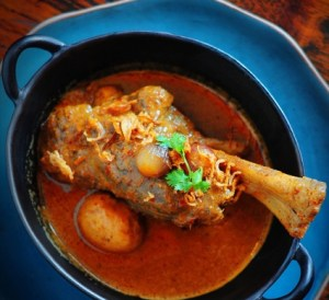 Issaya Siamese Club Mussamun curry lamb shanlk