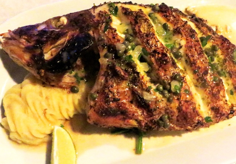 Rusty Hook Tavern - Hogfish in Lemon Caper Sauce