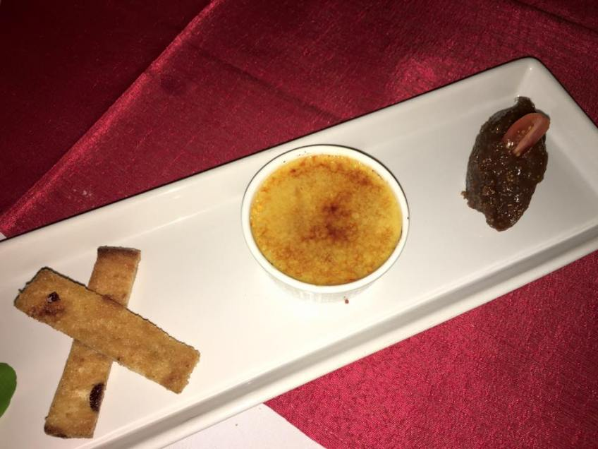 dedos phuket foie gras creme brulee