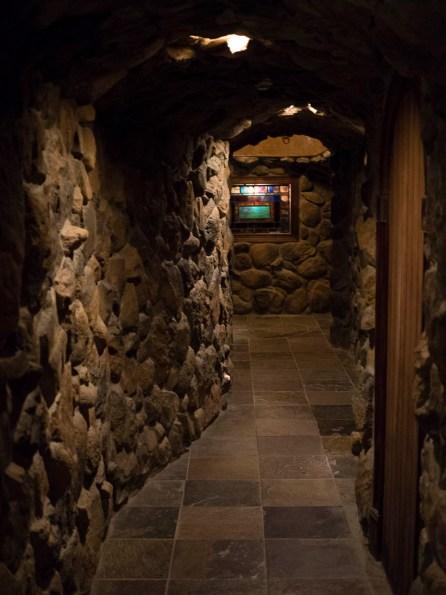NJWFF Crystal Springs Wine Cellar hallway