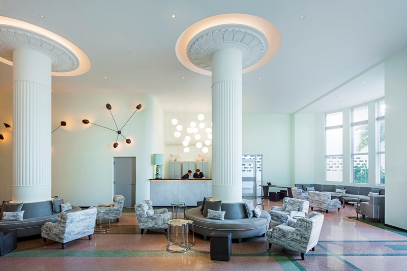 Traymore Gin Bar Miami – Hotel Lobby_Metropolitan by COMO Miami Beach - courtesy of Metropolitan by COMO