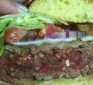 Benjamin Steakhouse Burger Close Up