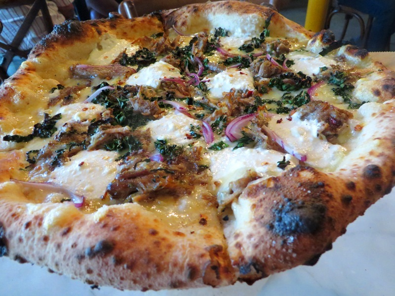 Harry's Pizzeria Miami - wood oven pizza - pork and kale special