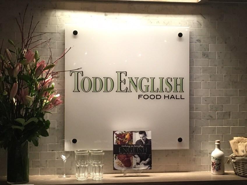 Todd English Food Hall Sign