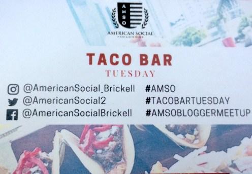American Social Taco Bar Tudesday