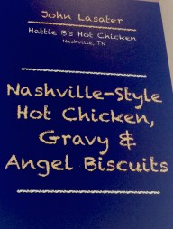 menu: chicken gravy biscuit