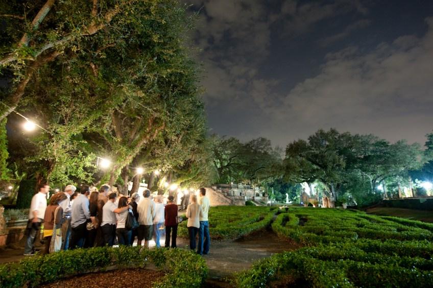 Vizcaya Gardens by Moonlight