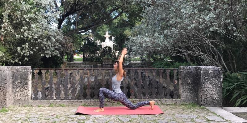 Yoga at Vizcaya