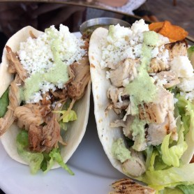 South Pointe Tavern chicken and beef taco