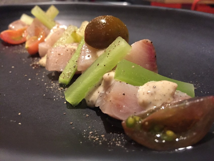 The Bellwether Hamachi Crudo Caesar
