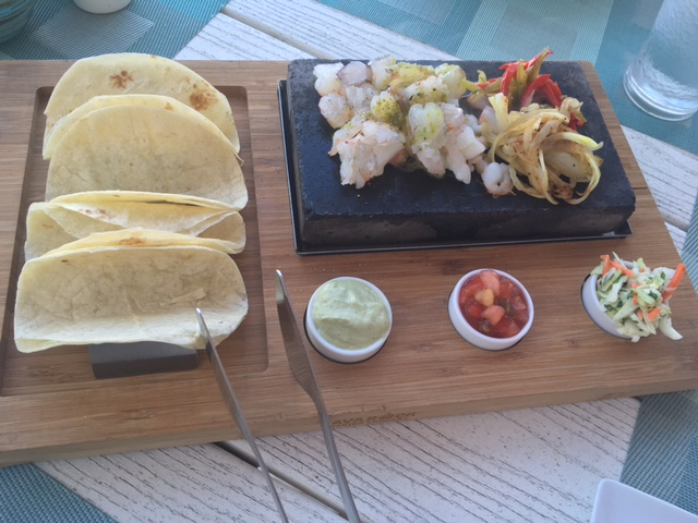 Gilis Beach Club Shrimp Tacos