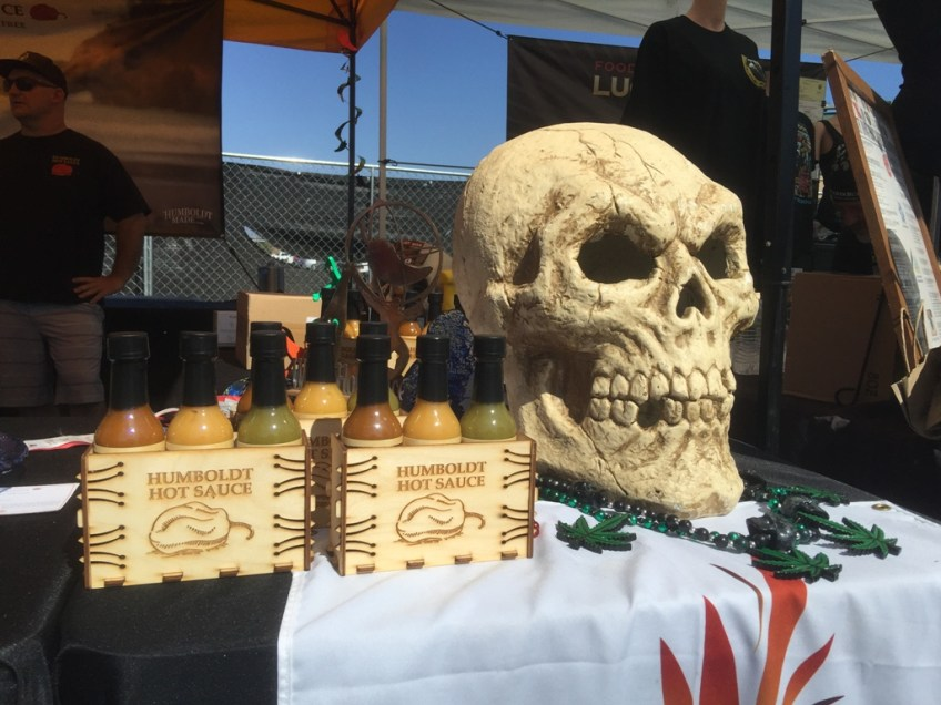 CA Hot Sauce Expo Humbodt Hot Sauce Skull and collection