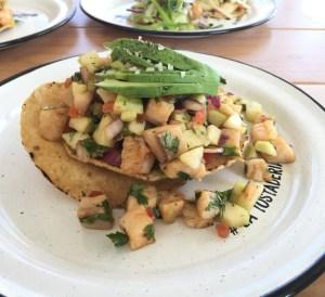 La Tostaderia Fish Ceviche Tostada